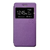 SMILE Flip Cover Case Lenovo A6000 / A6000 Plus - Purple (Merchant) - Casing Handphone / Case