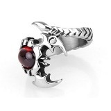 SOHO Cincin Scorpion Red Stone Size 12 (Merchant) - Cincin