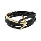 SOHO Curved Anchor - Black Gold (Merchant) - Gelang / Bracelet