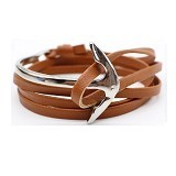 SOHO Curved Anchor - Brown Silver (Merchant) - Gelang / Bracelet