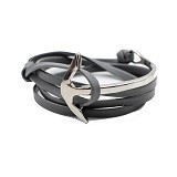SOHO Curved Anchor - Grey Silver (Merchant) - Gelang / Bracelet