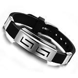 SOHO Gelang Karet Silikon [P1144] - Black (Merchant) - Gelang / Bracelet