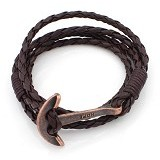 SOHO Gelang Kulit Jangkar Hope - Brown & Copper (Merchant) - Gelang / Bracelet