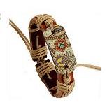 SOHO Gelang Kulit Motif Batik (Merchant) - Gelang / Bracelet