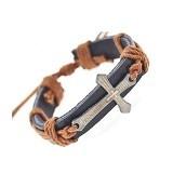 SOHO Gelang Kulit Salib [SP0653] - Soft Brown (Merchant) - Gelang / Bracelet