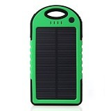 SOLAR Powerbank 5000mAh [E5000] - Green (Merchant) - Portable Charger / Power Bank