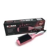 SONAR Catok Sisir Ceramic Hair 2 in 1 [SN 906] - Pink (Merchant) - Alat Penata Rambut / Styler