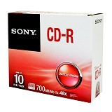 SONY CD-R Single Pack 10 Pcs - Cd-R Disc