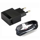 SONY Charger For Sony + Micro USB [EP880] - Black (Merchant) - Charger Handphone