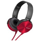 SONY Extra Bass Headphone [MDRXB450APRQE] - Red - Headphone Portable