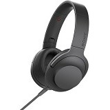 SONY Headphone Ear On [MDR-100AAP] - Charcoal Black - Headphone Portable