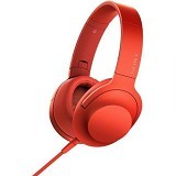 SONY Headphone Ear On [MDR-100AAP] - Cinnabar Red - Headphone Portable