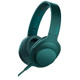 SONY Headphone Ear On [MDR-100AAP] - Viridian Blue - Headphone Portable