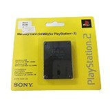 SONY Memory Card PS2 64 MB - Black (Merchant) - Video Game Accessory