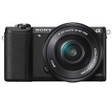 SONY Mirrorless Digital Camera Alpha a5100 [ILCE-5100L/BAP2] - Black - Camera Mirrorless