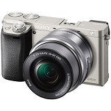 SONY Mirrorless Digital Camera Alpha a6000 - Silver (Merchant) - Camera Mirrorless