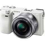 SONY Mirrorless Digital Camera Alpha a6000 - White (Merchant) - Camera Mirrorless