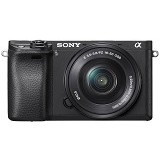 SONY Mirrorless Digital Camera Alpha a6300 Kit1 [ILCE-6300L] - Black - Camera Mirrorless