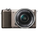 SONY Mirrorless Digital Camera Alpha a5100 [ILCE-5100L] - Brown - Camera Mirrorless