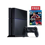 SONY PS4 500GB + PES 16 - Black - Game Console
