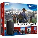 SONY PlayStation 4 Slim Watch Dogs 500GB [CUH-2016A] - Jet Black (Merchant) - Game Console