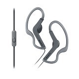 SONY Sport Series Earphone [MDR-AS210AP] - Black - Earphone Ear Bud