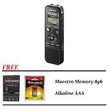 SONY Voice Recorder Paket A [ICD PX440M] - Black - Voice Recorders