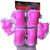 SPORT PROTECTION Children Pad Protector - Solid Pink - Pelindung Set / Decker