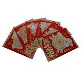 SSLAND Angpao Paper - Lucky Red (V) - Amplop Putih