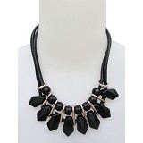 SSLAND Coral Shape Necklace [FJ057] - Black (V) - Kalung / Necklace
