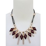 SSLAND Diamond Shape Necklace [FJ065] -  Maroon (V) - Kalung / Necklace