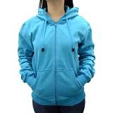 SSLAND Jaket Hoodie Wanita All Size - Blue (V) - Jaket Casual Wanita
