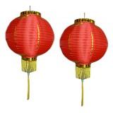 SSLAND Lampion Gantung 12 inch - Red (V) - Lampu Gantung