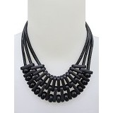 SSLAND Ring Bold Necklace [FJ049] - Black (V) - Kalung / Necklace
