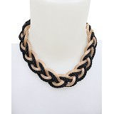 SSLAND Rope Necklace [AG013] - Black Gold (V) - Kalung / Necklace