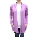 SSLAND Women Basic Candy Cardigan - Purple (V) - Cardigan Wanita