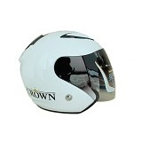 SST Helmet All Size - White - Helm Motor Half Face