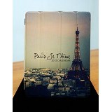 ST-VANILLA STORE Smart Cover for Apple iPad 2/3/4 [AC003] Eiffel - Casing Tablet / Case