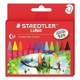 STAEDTLER LUNA Set Jumbo Wax Crayon [12 pcs] (Merchant) - Pensil Warna