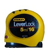 STANLEY Lever Lock Tape 5M [30-815] (Merchant) - Meteran Manual