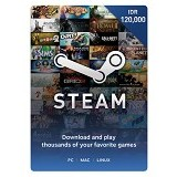 STEAM WALLET IDR 120.000 Digital Code - Voucher Games