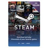 STEAM WALLET IDR 250.000 Digital Code - Voucher Games