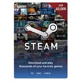STEAM WALLET IDR 60.000 Digital Code - Tiket & Voucher