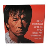 STRIPE PRODUCTS Pop Art Jackie Chan 30cm (V) - Wall Art / Hiasan Dinding