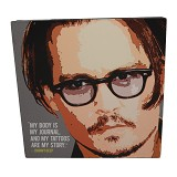 STRIPE PRODUCTS Pop Art Jonny Deep 25 cm (V) - Wall Art / Hiasan Dinding