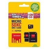 STRONTIUM Micro SDXC Nitro 128GB With Adapter and Card Reader [466X] (Merchant) - Micro Secure Digital / Micro Sd Card