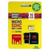 STRONTIUM Micro SDHC Nitro 16GB With Adapter and Card Reader [433X] (Merchant) - Micro Secure Digital / Micro Sd Card