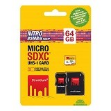 STRONTIUM Micro SDXC Nitro 64GB With Adapter and Card Reader [566X] (Merchant) - Micro Secure Digital / Micro Sd Card