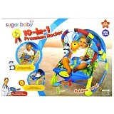 SUGAR BABY 10 in 1 Premium Rocker Rainbow Forest [SB-10in1] - Baby Highchair and Booster Seat