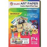 SUN Art Paper F4 100 Gsm - Kertas Foto / Photo Paper